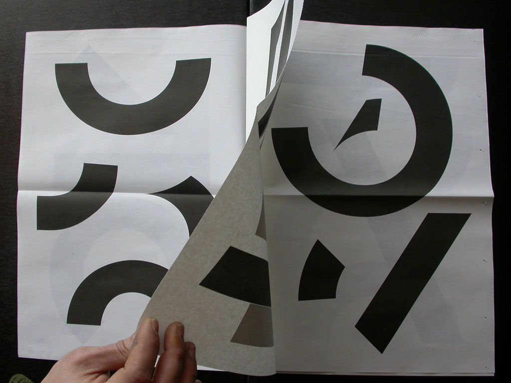 Claude Closky, 'Repartir à zéro [starting from scratch],' 2009, Marseille: ULS. Black rotary press, 12 pages, 44 x 30 cm.